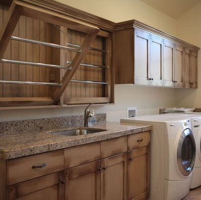 Wooden-drying-rack-laundry-room
