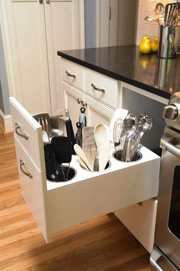 Gentil Cutlery Storage Ideas Woohome 2